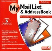 MY SOFTWARE MY MAIL LIST and ADDRESS BOOK   New Sealed