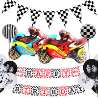 Racing Theme Black And White Gera Flag Balloon Personalized Party Decoration HOT