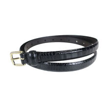 NEW Marc by Marc Jacobs Croc Print Belt in Black