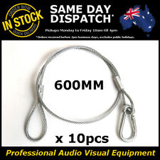 10 x 600mm Steel Wire Safety Security Cable Stage Lighting Light Clamp PAR Can