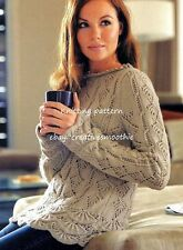 (274) Ladies Lace & Scalloped Hem Sweater, 32-42'', DK Knitting Pattern