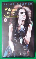 ALICE COOPER WELCOME TO MY NIGHTMARE VIDEO VHS 84 MINS ROCK HEAVY METAL