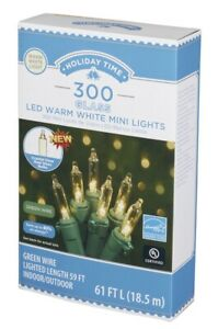 Holiday Time 300 Glass Warm White Lights