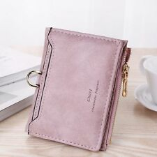US Womens Leather Small Mini Wallet Card Holder Zip Coin Purse Clutch Handbag