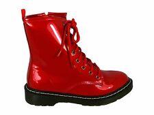 Women's Retro Punk Combat Festival Summer Lace Up Ankle Boots Cowboy Sizes UK