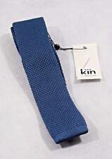 Bnwt Kin By John Lewis Mercer Knitted 5cm Tie In Marine Blue (R81)