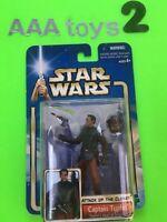 Star Wars CAPTAIN TYPHO Head Security AOTC Action Figure Blue Card 2002 MOC
