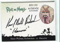 CRYPTOZOIC RICK AND MORTY SEASON 2 * AUTOGRAPH CARD * KEVIN M RICHARDSON/HAMURAI