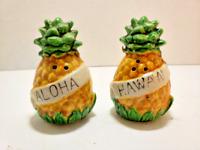 Pineapple Aloha Hawaii Salt and Pepper Shakers- Japan