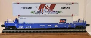 K-line Trains Car #775201 O-Gauge APL Thrall DTTX W/ 2 Large Containers (722)