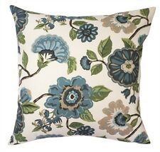 "Francesca Floral 18"" Cotton Pillow Cover"
