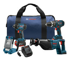 Bosch CLPK495-181 18-Volt 2.0Ah 4-Tool Drill/Driver and Reciprocating Saw Kit