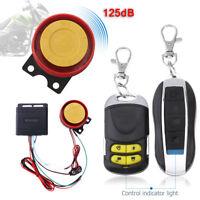 WINOMO 12V Alarma Antirrobo de Moto con 2 Mando Distancia Sistema Seguridad