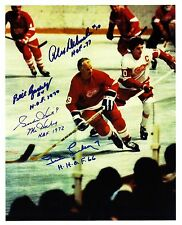Gordie Howe, Lindsay, Delvecchio, Gadsby autographed charity game...awesome!!!