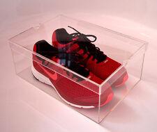 Schuh Box Sammler Acryl Glas Aufbewahrungs Schaukasten Spuck Staub Schutz Sammel