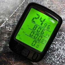 Waterproof Cycle Bicycle Bike LCD Computer Odometer Speedometer With Backlight