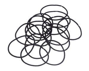 Solida Pigtail Holder Black, 10er Bag, Medium Size, Metal Free