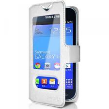 Housse Coque Etui S-view Universel S Couleur Blanc pour Samsung Galaxy Trend Lit