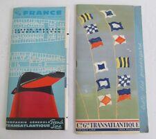 1963 SS FRANCE Cie Gle Transatlantique Brochure & Passenger List