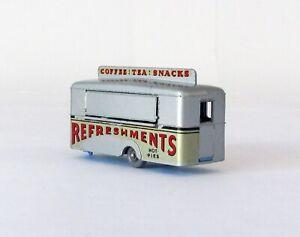 Vintage Lesney Matchbox #74 Mobile Canteen Refreshments Trailer GRAY WHEEL 1959