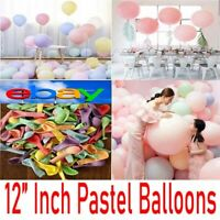 "100Pcs 12"" Macaron Candy Pastel Latex Balloon Wedding Party Decor Birthday"
