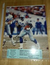 Barry Sanders Early 1991 Autograph Signed 8x10 Photo Original Autograph Ticket