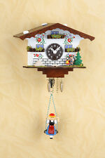 Pendulum clock Black Forest girl Cuckoo Bollenhut 105S TOP