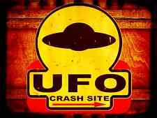 *UFO CRASH SITE* MADE IN USA!  METAL SIGN 8X12 MAN CAVE BAR POKER ROOM AREA 51