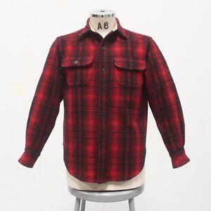 Vintage 90s Ralph Lauren Wool Plaid Shirt Size M Polo