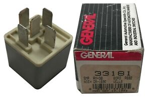 General 33181 Fast Idle Valve Solenoid Relay 5 Pin 12V 30A Repla. Standard RY-30