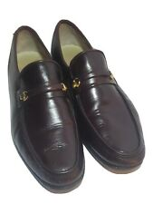 Churchs Handmade Prima Classe Men's Size 8N Loafers Shoes Burgundy horsebit