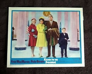 Kisses For My President 1964 Lobby Cards #1, 4 Fred MacMurray Eli Wallach