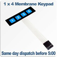 1 x 4 Key Matrix Membrane Keypad Self Adhesive. Keys printed 1 to 4