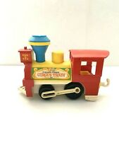 """Vintage Fisher Price Circus Train 28"""" Long with Engine 1 Car and Caboose 1970's"""