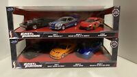 Fast and Furious Diecast Dom's Charger Brian's GT-R Brian's Supra NEW! 1:32 F&F