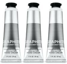 Bath & Body Works GRAPHITE for MEN Shea Butter Hand Cream 1 oz x 3 Lot
