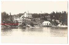 BAY VIEW HOUSE CAPITOL ISLAND, ME RPPC-c1910s KRUXO REAL PHOTO-0210-FREE US SHIP