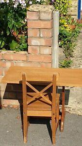Mid century, vintage wooden Children's school desk and chair