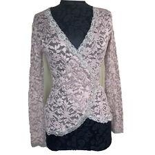 Moda International Womens Top Lace Wrap Deep V Floral #L1