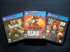 Red Dead Redemption 2, Call of Duty Black Ops 4 & W2K19 Wrestling (Brand New)