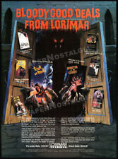 1987 Horror Trade AD__Lorimar Video PROMO__Trick or Treat__Monster in the Closet
