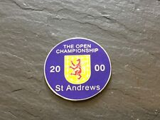 2000 British Open St Andrews Logo Golf Ball Marker Neuf Plat Coin Tiger Woods