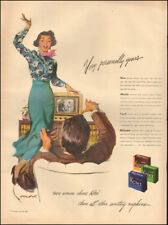 1949 Vintage ad for Kotex Sanitary Napkins`Art Pretty Model TV retro  (042318)