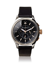 Brand New Tommy Bahama 10024807 Men's Classic Chronograph All Black Leather