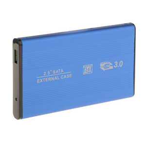 "2.5"" Sata USB3.0 Hard Drive HDD Enclosure External Laptop Disk Case-Blue"