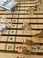 VTG Horse Race Racing Wood Board Game Cards Dice Chance Family Entertainment