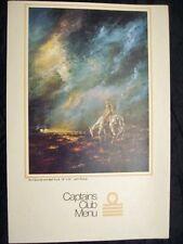 Menu Quantas 1970 aéronautique Don Quixotte Don Quichotte John Pickup