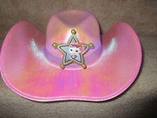 Disney Jr. Sheriff Callie's Wild West Pink Cowboy Howdy Do Hoedown Hat Euc