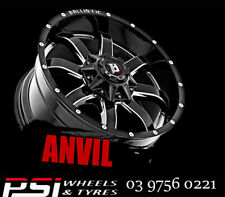 "20"" INCH BALLISTIC ANVIL 20x9 WHEELS 6X139.7 6X114.3 5X127 5X120 RIMS ALLOYS MAG"