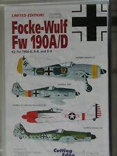 1/48 Cutting Edge FOCKE WULF Fw 190A/D #2: Fw190A-5,-6 & D-9 *4 planes Decal OOP